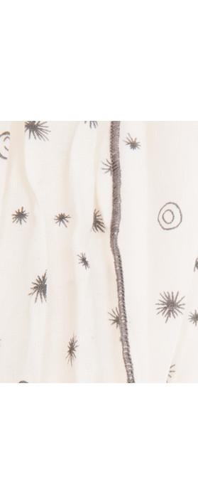 Sandwich Clothing Little Star Print Scarf Chalk White