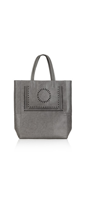 Sandwich Clothing Perforated Detail Shopper Bag Stone Grey