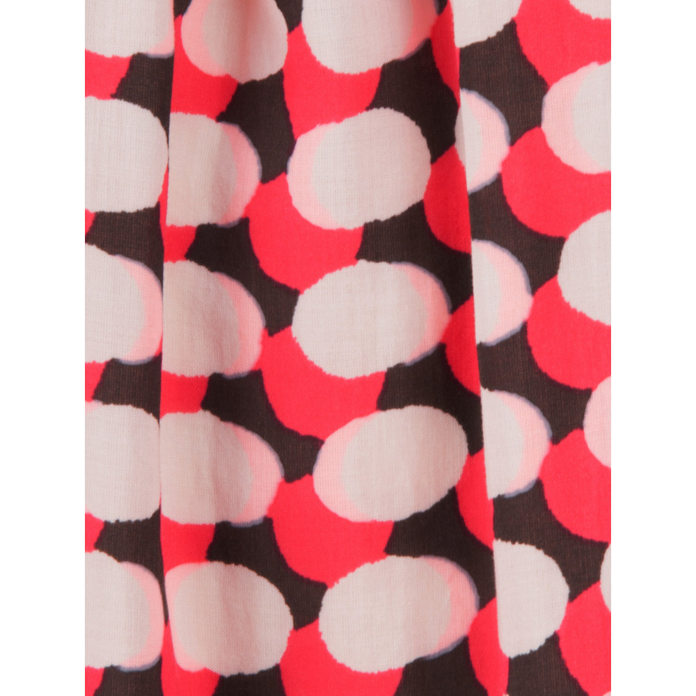 Sandwich Clothing Printed Dots Top Bright Coral