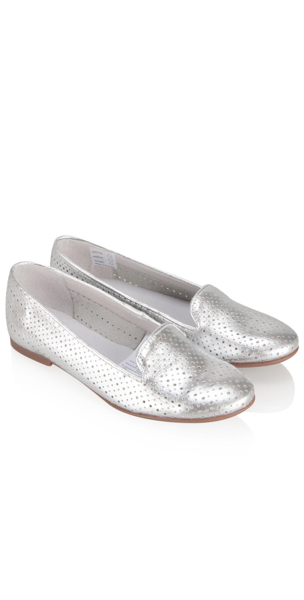 Metallic Saffron Slipper Shoe  main image