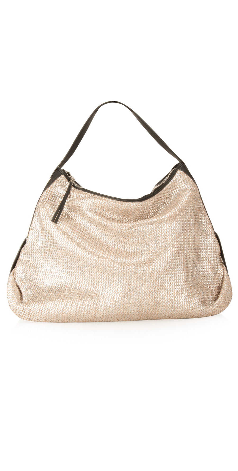 French Connection Florence Woven Hobo Bag in Silver 3fc8513b69f21