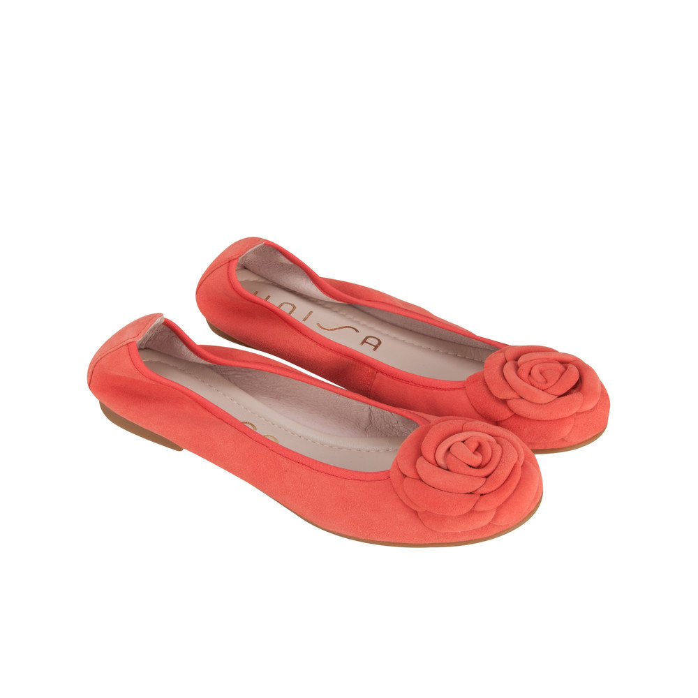 Unisa Shoes Abibo Ballet Pump Coral