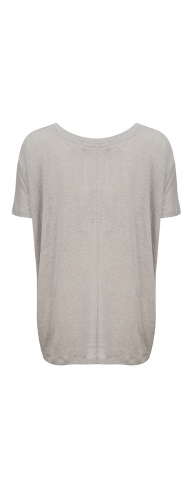 Sandwich Clothing Printed Jersey Top Pearl Grey