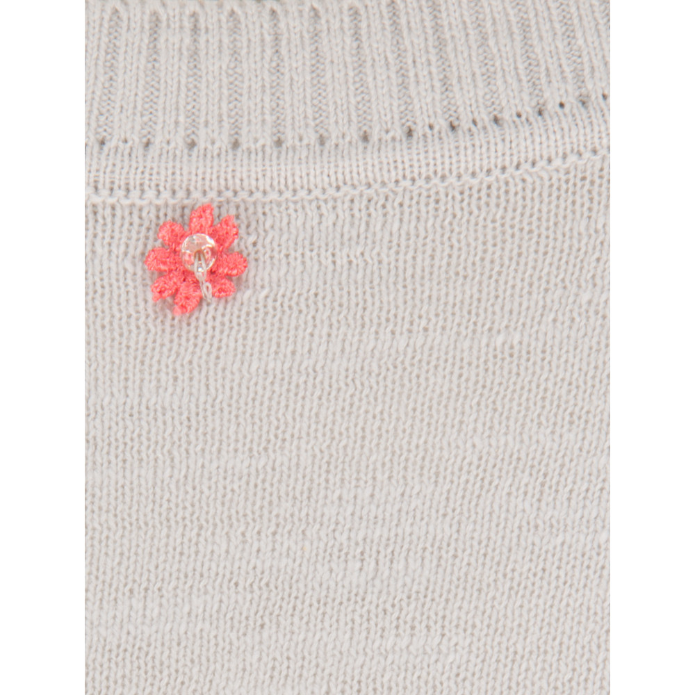 French Connection Polka Flower Knit Jumper Vapour Blue