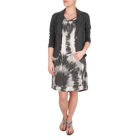 Sandwich Clothing Tie Dye Circle Print Dress - Grey