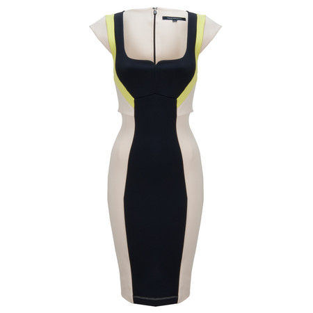 French Connection Monroe Stretch Dress - Beige