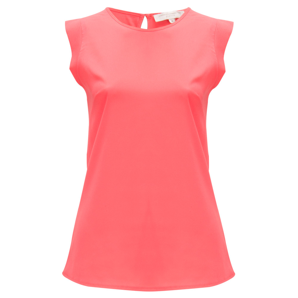 French Connection Penny Plains Top Party Pink
