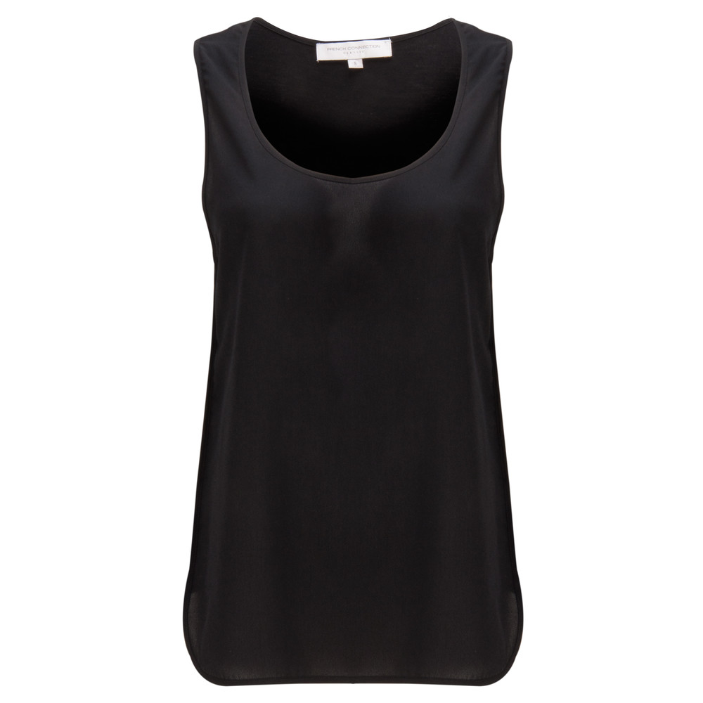 French Connection Penny Plains Vest Top Black