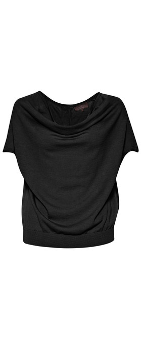 Great Plains Daria Drape Front Knit Top Black