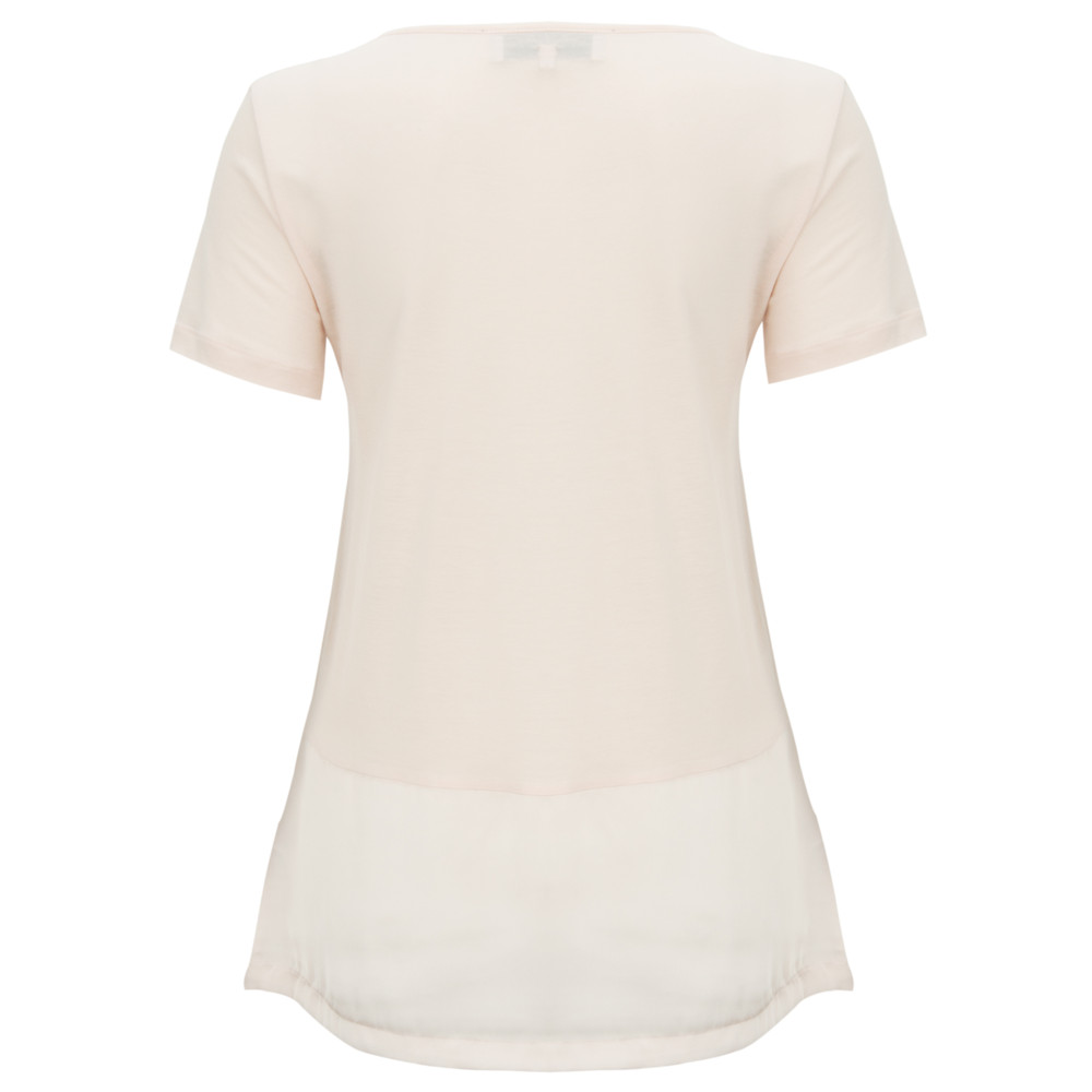French Connection Polly Plains Satin Band T-Shirt Antique Lace
