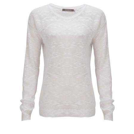 Sandwich Clothing Stripe linen Pullover - White