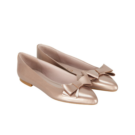 Unisa Shoes Acis Ballet Pump - Metallic