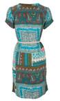 Sandwich Clothing Dark Jade Indian Flower Print Dress