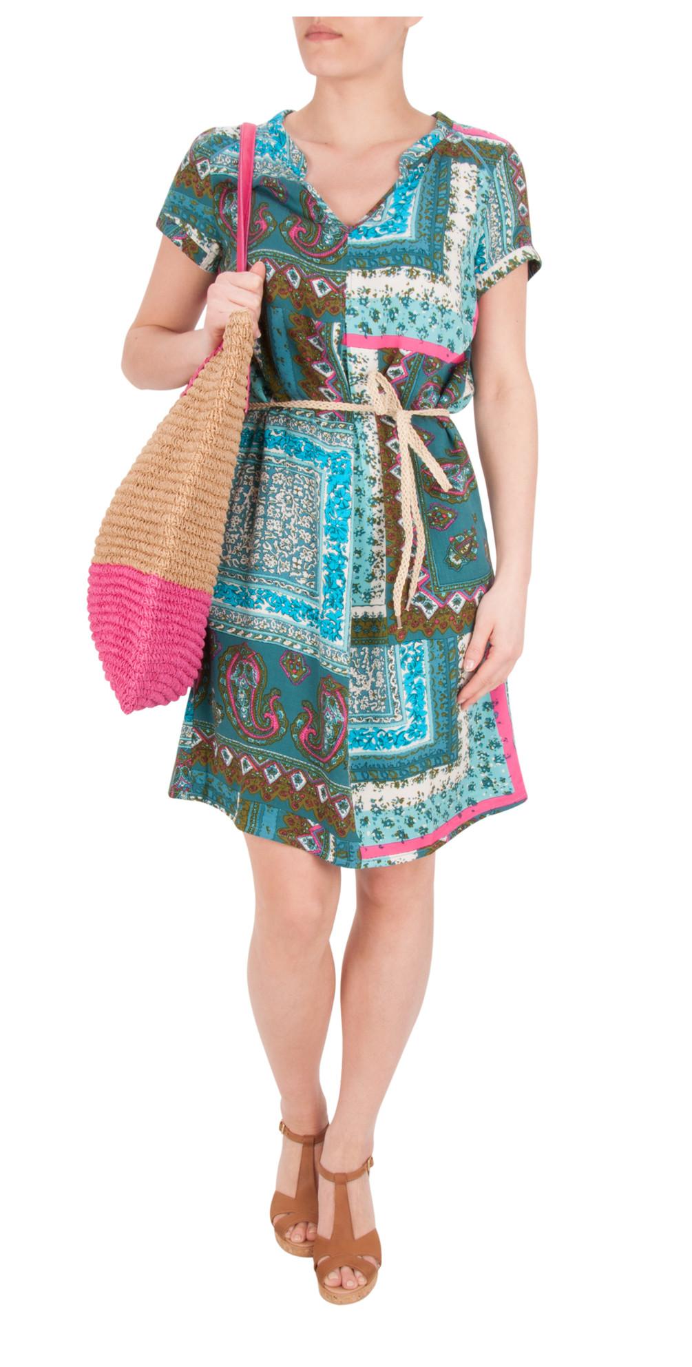 Indian Flower Print Dress main image