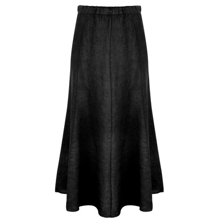 Lauren Vidal Linen Lena Skirt - Black