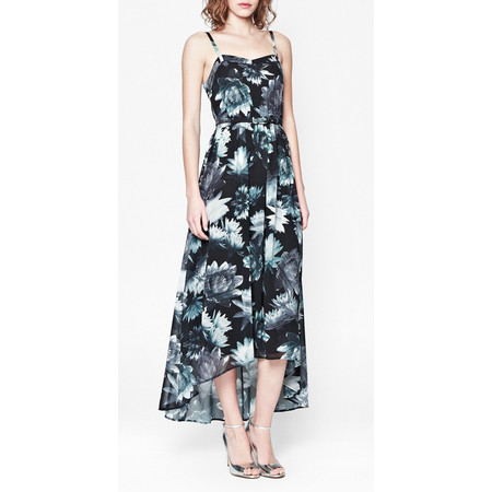 French Connection Lily Collage Strappy Dress - Black
