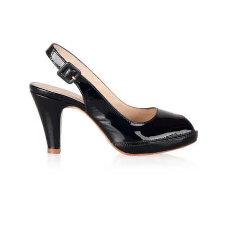 Unisa Shoes Nick Vernize High Peep Toe Slingback - Blue