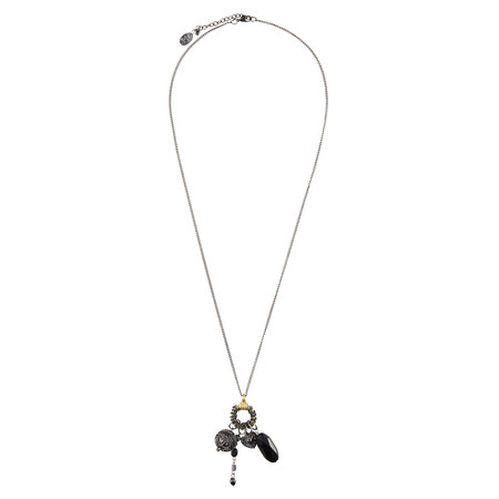 Sandwich Clothing Bunch Of Pendants Necklace - Black