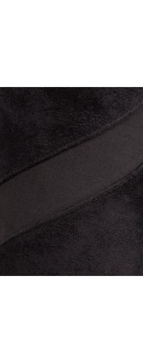 Sandwich Clothing Faux Suede Pants Black