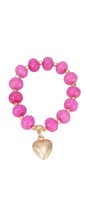 Pranella Bombay Carnation Bracelet Hot Pink