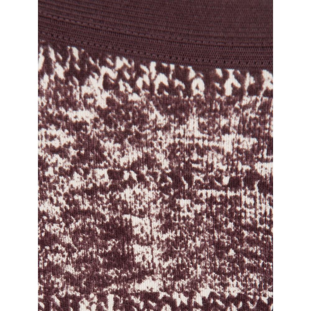 Sandwich Clothing Knit Texture Print Leggings Dark Berry