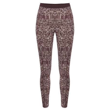 Sandwich Clothing Knit Texture Print Leggings - Brown