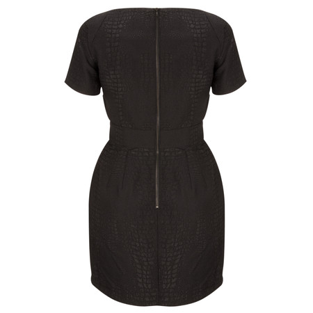 French Connection Croc Luxe Dress - Black