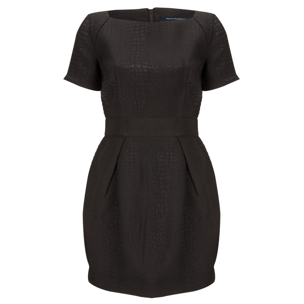 French Connection Croc Luxe Dress Black