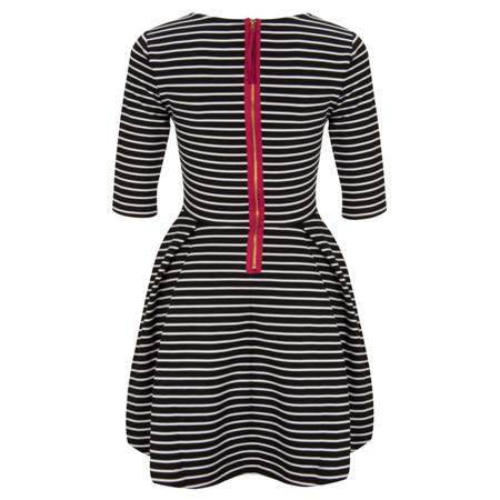 French Connection Suki Winter Stripe Dress - Black