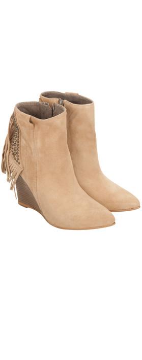 Alpe  Tassel Wedge Ankle Boot Bambi