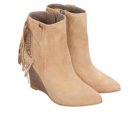 Alpe  Tassel Wedge Ankle Boot - Brown