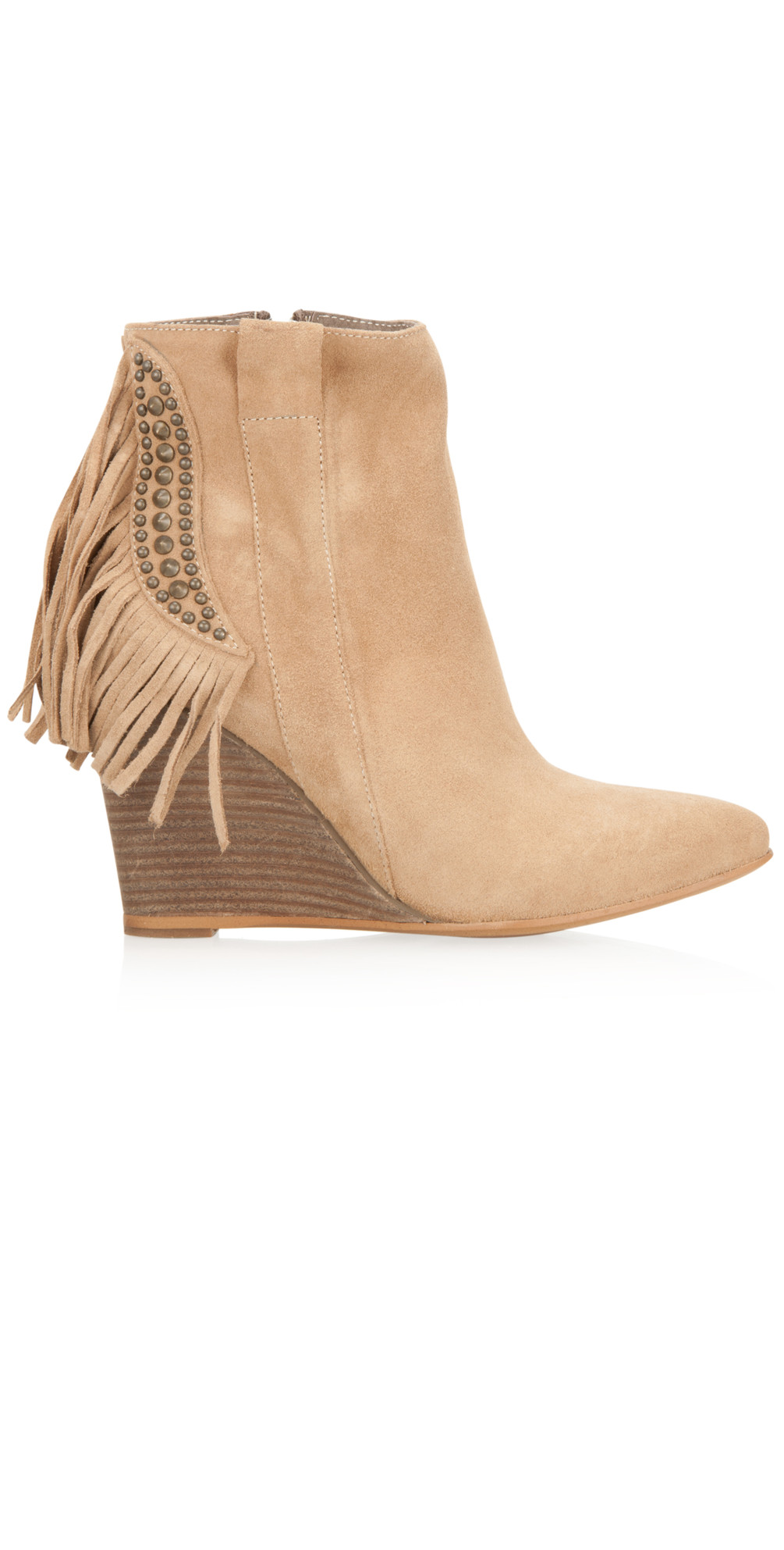 Tassel Wedge Ankle Boot main image
