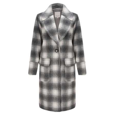 Great Plains Bonnie Check Coat - Grey