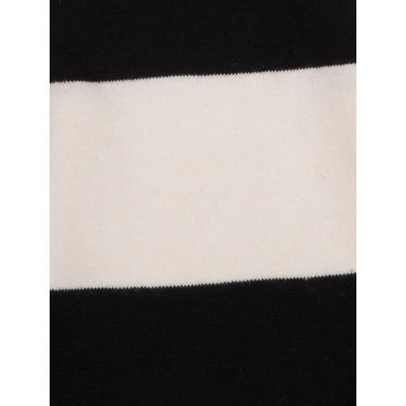 Gemini Woman Natalie Striped Scarf - Black