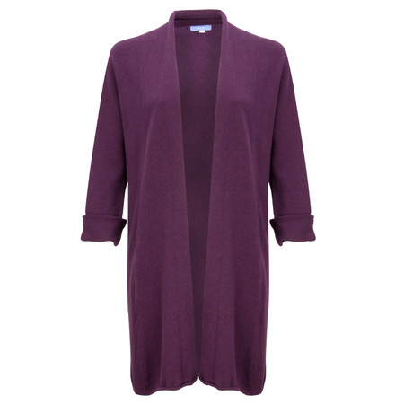 Gemini Woman Long Cleo Cardigan - Purple