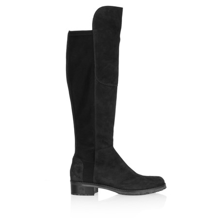 Kennel Und Schmenger Blues Suede Long Flat Boot - Black