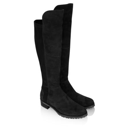 Kennel Und Schmenger Blues Suede Long Flat Boot - Black