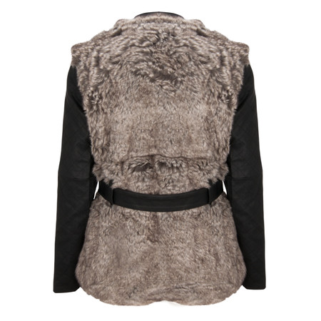 French Connection Alexia Furry Jacket - Grey
