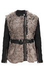 French Connection Carbon Alexia Furry Jacket