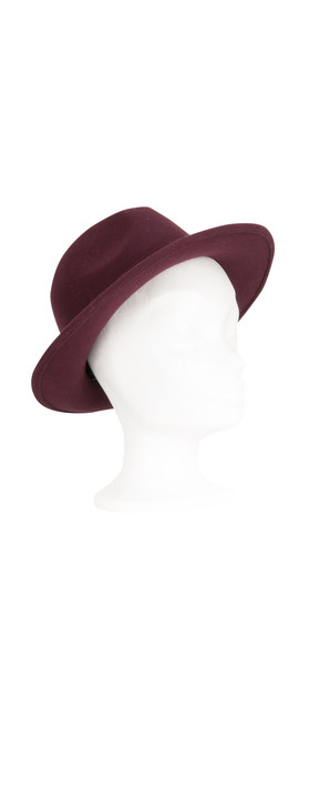 French Connection Ame Felt Hat Evening Wine